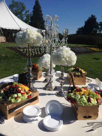 Fruit platter area