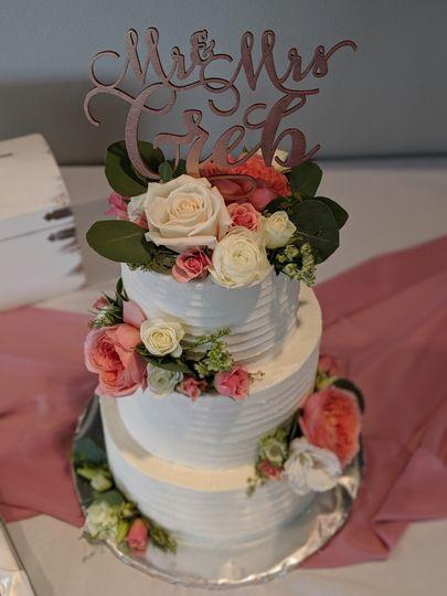 Tiered Cake w/ Florals