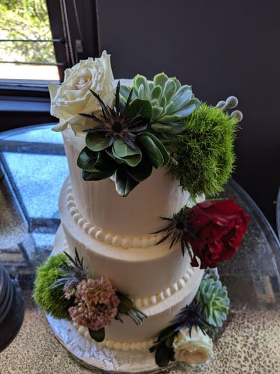 Succulent Tiered Cake