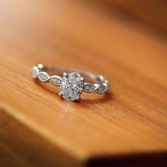 Vintage oval engagement ring