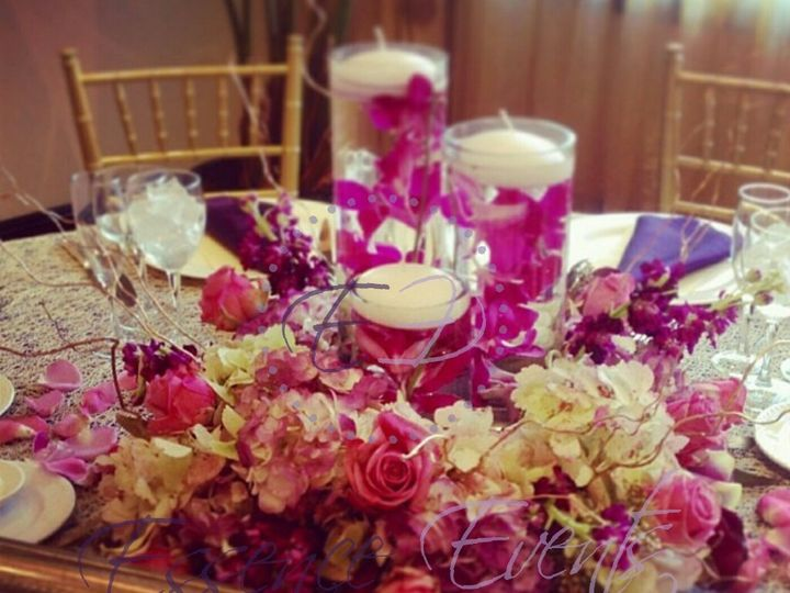 Tmx 1441828480437 Colorful Table With Floaters Raleigh, NC wedding eventproduction