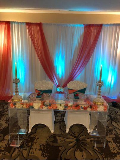 Sweetheart Table @ Hilton NC