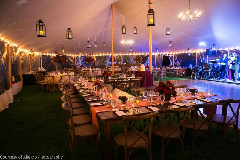 Tented Reception in The Maple Grove