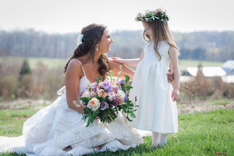 Bride + Flowergirl
