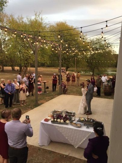 From the balcony of the barn, overlooking the dance floor.