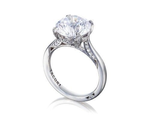 TACORI ht2625rd10 All eyes will be on your center diamond, in this not so simple solitaire round cut...