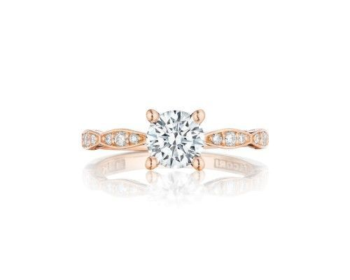TACORI 46-2RD6PK Diamonds accentuate half almond crescents on the ceiling of the band as signature...