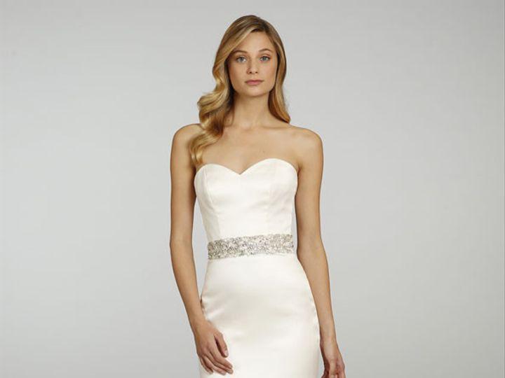 Tmx 1440187848726 Alvina Valenta Bridal Silk Satin Organza Gown Trum Edmond wedding dress