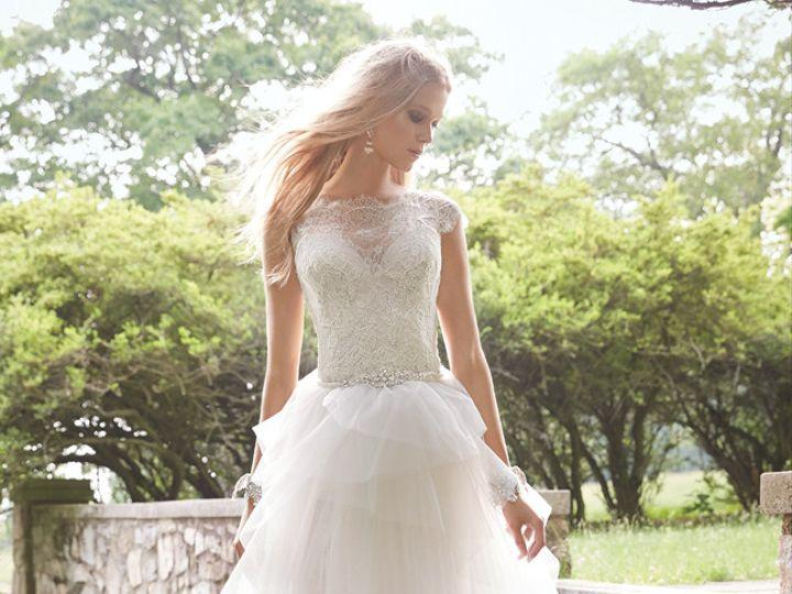 Tmx 1440188031402 Alvina Valenta Bridal Chantilly Lace Placed Alenco Edmond wedding dress