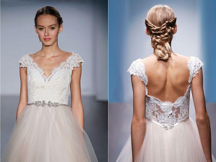 Tmx 1440188267355 Alvina Valenta Bridal Tulle Ball Gown Lace Natural Edmond wedding dress