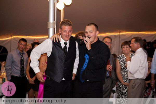 The groom and the DJ