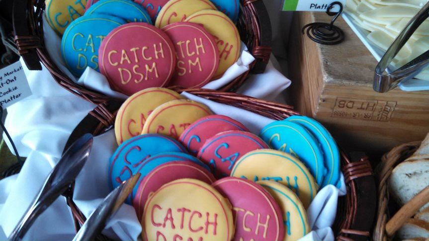 Personalized sugar cookies for the folks at Catch DSM