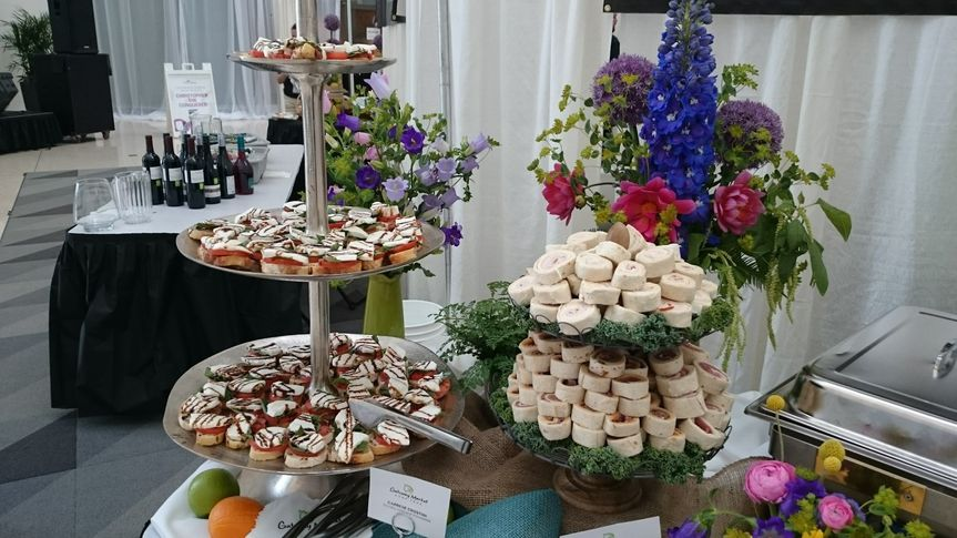 Tiered appetizer display works great for large groups!