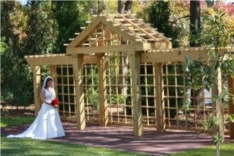Wedding Garden Pergola at the Brady Inn, Madison GA.