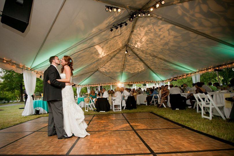 The first dance at the Brady Inn, Madison GA. The Reception Garden - separate from the Wedding...