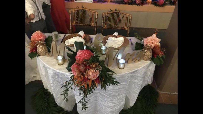 mr mrs table setting 17