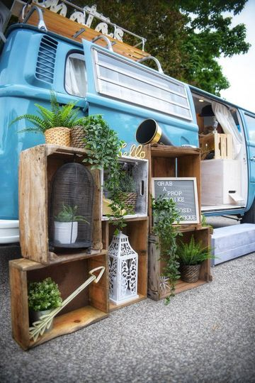 Vw bus photo booth staging