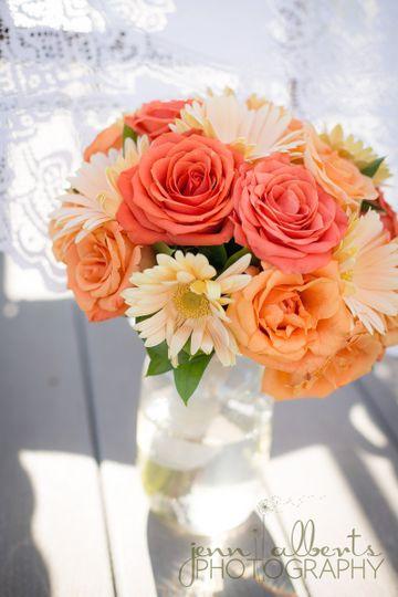 Bouquet in water