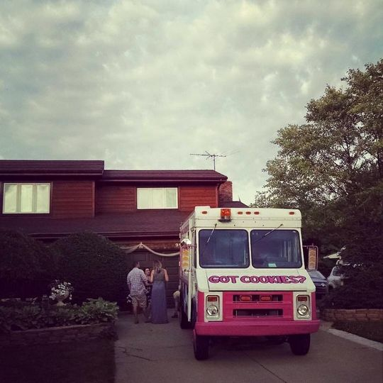Cookie, our truck at a backyard wedding!
