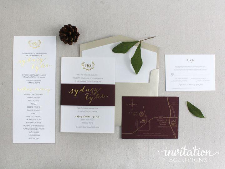 Invitation solutions invitations houston tx weddingwire 800x800 1480631978360 antler invitation2 stopboris Image collections