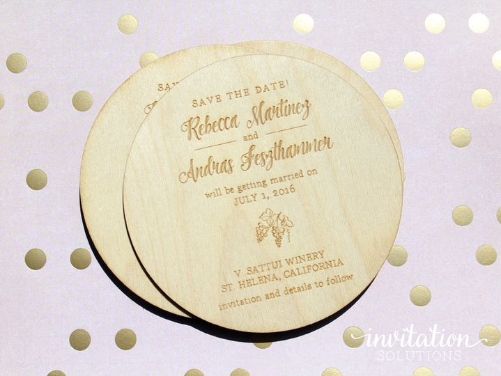 savethedate wood