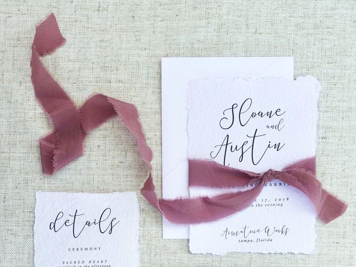 Tmx 1529348589 Fbfa7f5594783bd9 1529348586 37013ba67ff8f003 1529348584766 3 DPC Handmade 1 Tampa wedding invitation