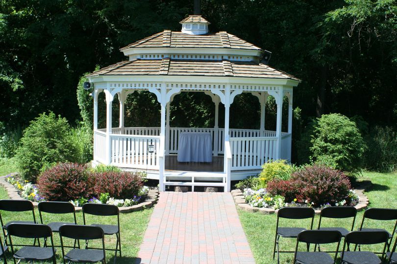 Our White Gazebo for your special ceremony