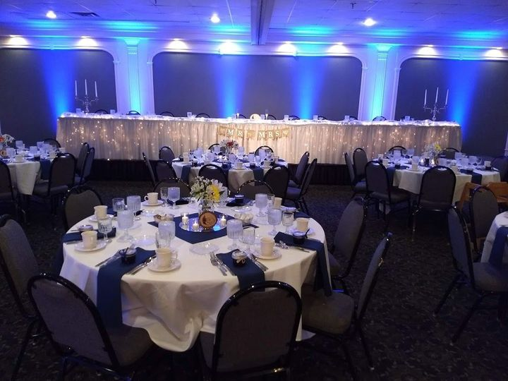 Grand Ballroom with uplighting