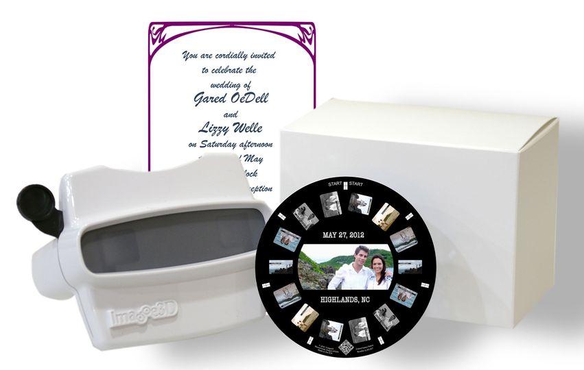 wedding invitation reel and car