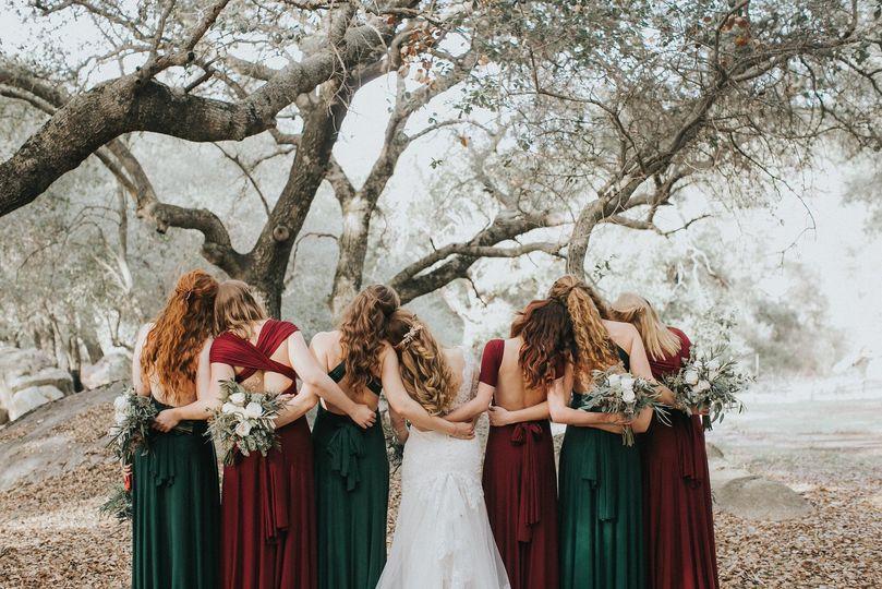 Bride and bridesmaids | Alba Quezada-photographer