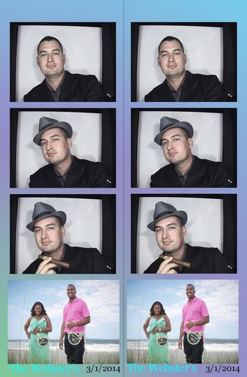 photo booth with custom photo
