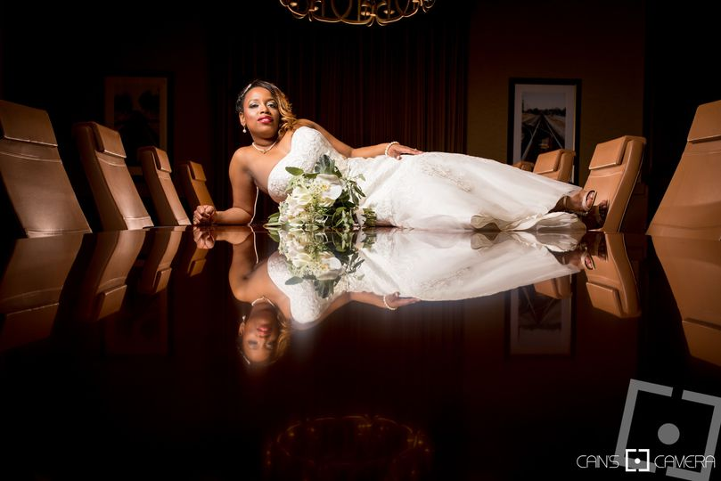 Toni-Marie's bridal portrait at the Douglasville Conference Center