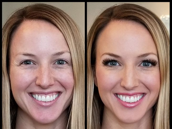 Tmx Airbrushed Bridesmaid Makeup With False Lashes Golden Glowy Skin And Pink Lips  51 972928 Minneapolis, Minnesota wedding beauty
