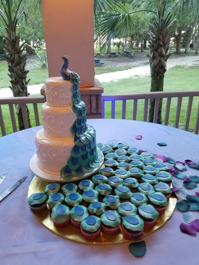 Vendors for cakes and catering.