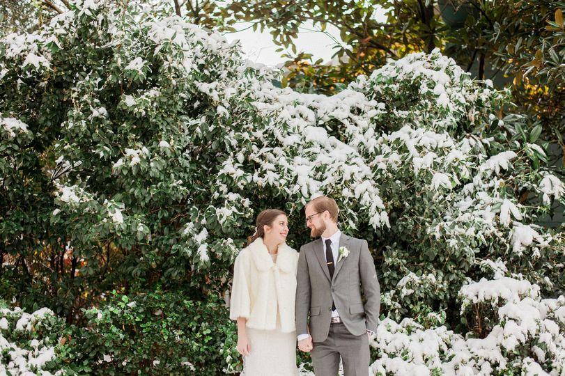 Snowy Atlanta Wedding Day