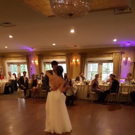 Couple first wedding dance