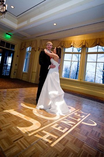 Example of Custom Monogrammed Projection on the Dance Floor