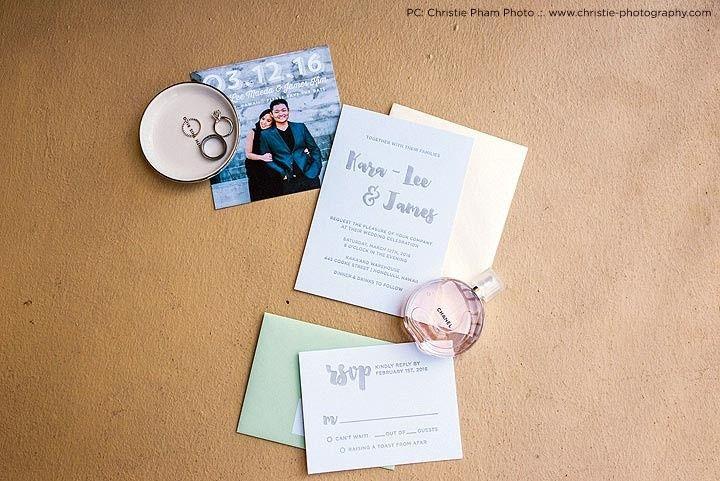 thekimunion hawaii wedding letterpress invitation
