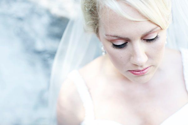 fresh make up done for this bride