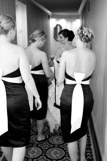 all bridesmaids hair was styled by Kristal Lane