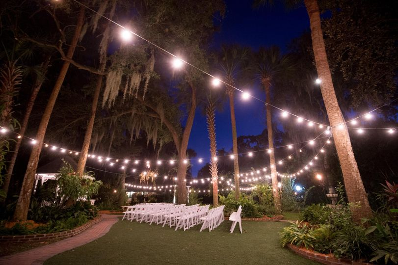 Evening wedding setup