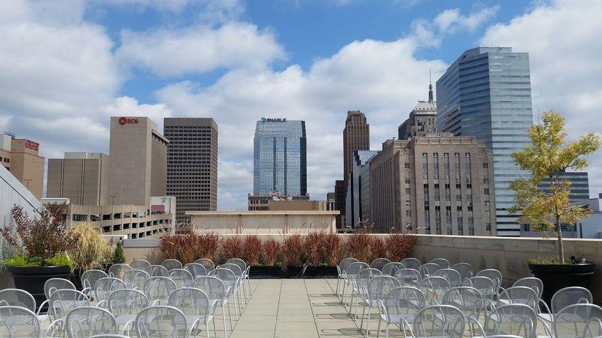 OKCMOA Roof Terrace fall ceremony.