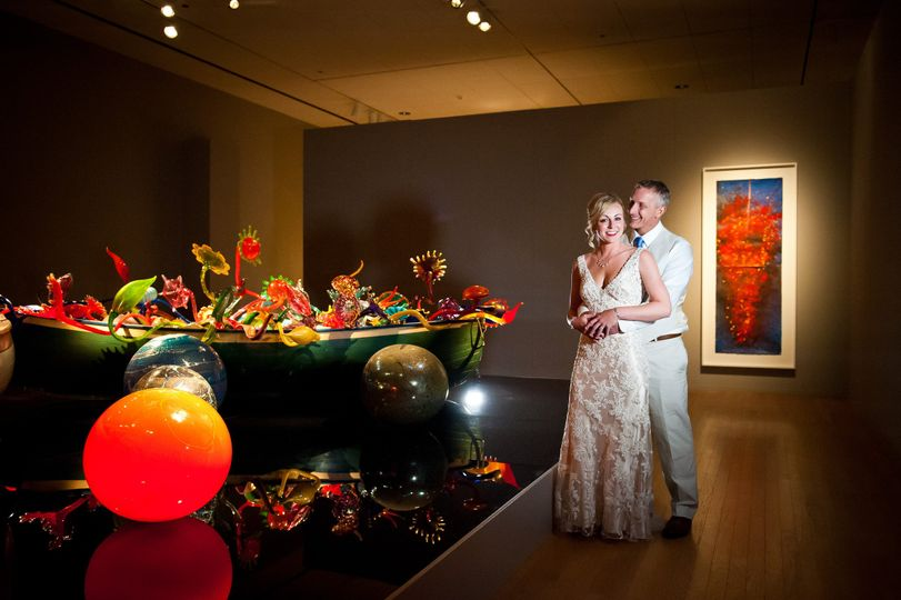 This couple had a photography session in our Dale Chihuly galleries before their reception on the...