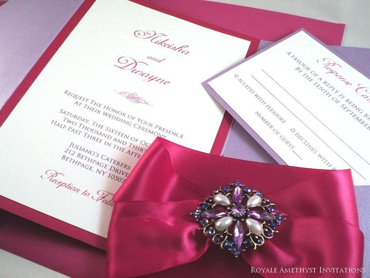 Tmx 1344985349067 FLBROOCH2 Bronx wedding invitation