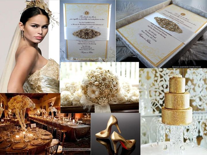 Tmx 1344985549844 GoldVisionBoard Bronx wedding invitation