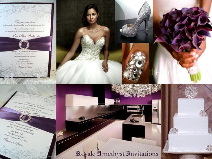 Tmx 1344985998753 PlumSwarvoskiVisionBoard Bronx wedding invitation