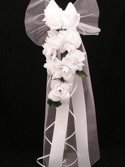 purity personalised wedding pew end