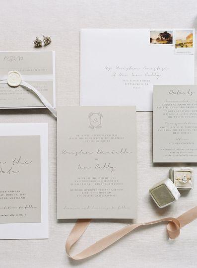 Organic, modern wedding invitations.
