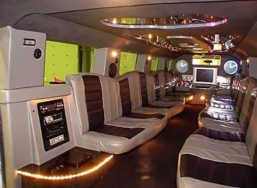 Fiber optic lights, mirrored ceiling with stars, TV, DVD, Huge digital AM-FM CD with IPOD dock, twin...