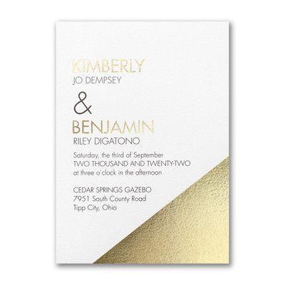 Gold and white invitation